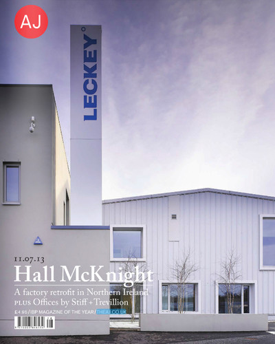 Leckey Factory wins RIBA Regional Award and is published in AJ